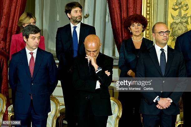 Newly appointed Ministers of Italian government Cultural Heritage and Activities Minister Dario Franceschini Education and Research Minister Valeria...