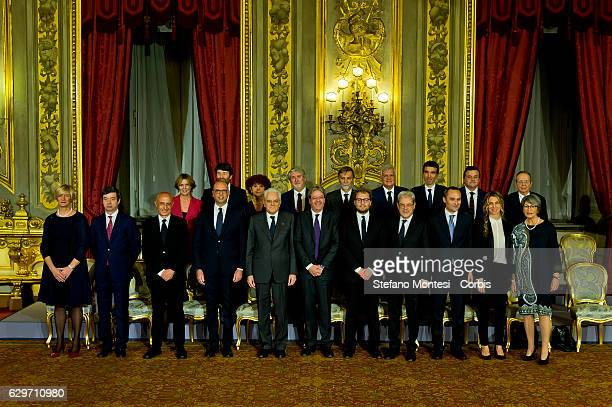 Newly appointed Ministers of Italian government Health Minister Beatrice Lorenzin Cultural Heritage and Activities Minister Dario Franceschini...