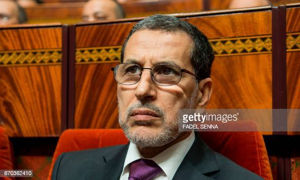 Newly appointed Moroccan Prime Minister SaadEddine El Othmani attends a joint public meeting devoted to the presentation of the government program at...
