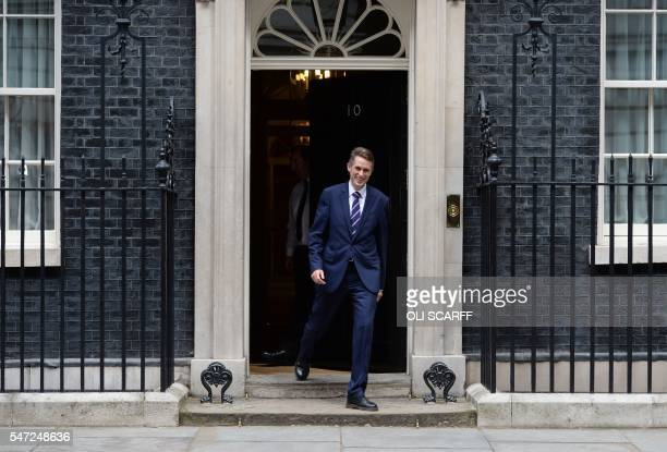 Newly appointed Parliamentary Secretary to the Treasury Gavin Williamson leaves 10 Downing Street in central London on July 14 2016 as cabinet...
