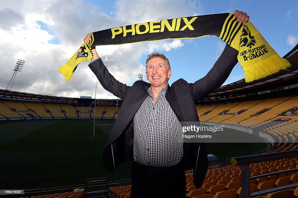 Newly appointed Phoenix coach Ernie Merrick poses during a Wellington Phoenix A-league press conference at Westpac Stadium on May 20, 2013 in Wellington, New Zealand.