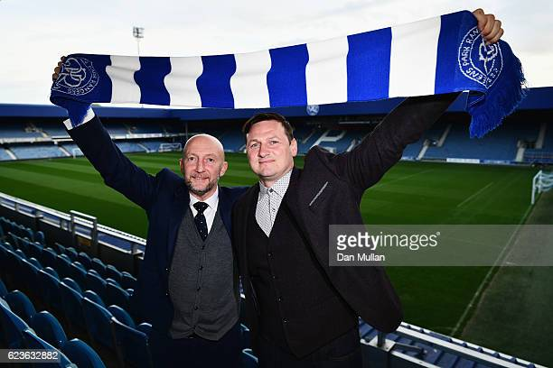 Newly appointed Queens Park Rangers manager Ian Holloway and firstteam coach Marc Bircham pose at Loftus Road on November 16 2016 in London England