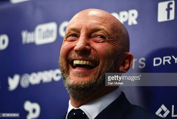 Newly appointed Queens Park Rangers manager Ian Holloway talks during a press conference at Loftus Road on November 16 2016 in London England