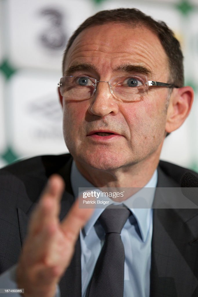 Newly appointed Republic of Ireland manager Martin O'Neill during a press conference at Gibson Hotel on November 09, 2013 in Dublin, Ireland.