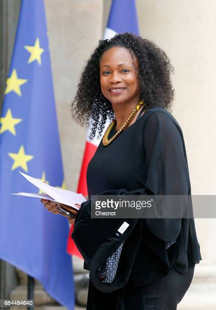 Newly appointed Sports Minister Laura Flessel arrives at the Elysee presidential palace for the first weekly cabinet meeting on May 18 2017 in Paris...