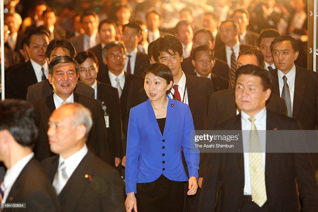 Newly appointed State minister in charge of declining birthrate issue Yuko Obuchi walks on September 24, 2008 in Tokyo, Japan.
