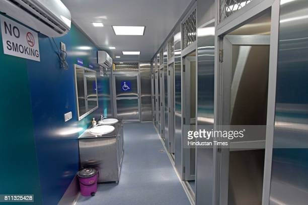 Newly BMC Toilet equipped with air conditioned Solar panels sanitary pad vending machine inaugurated by Yuva Sena President Aaditya Thackeray at...