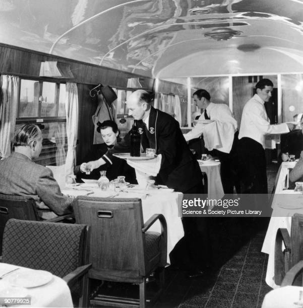 A newly built British Railways buffet Restaurant car 1951