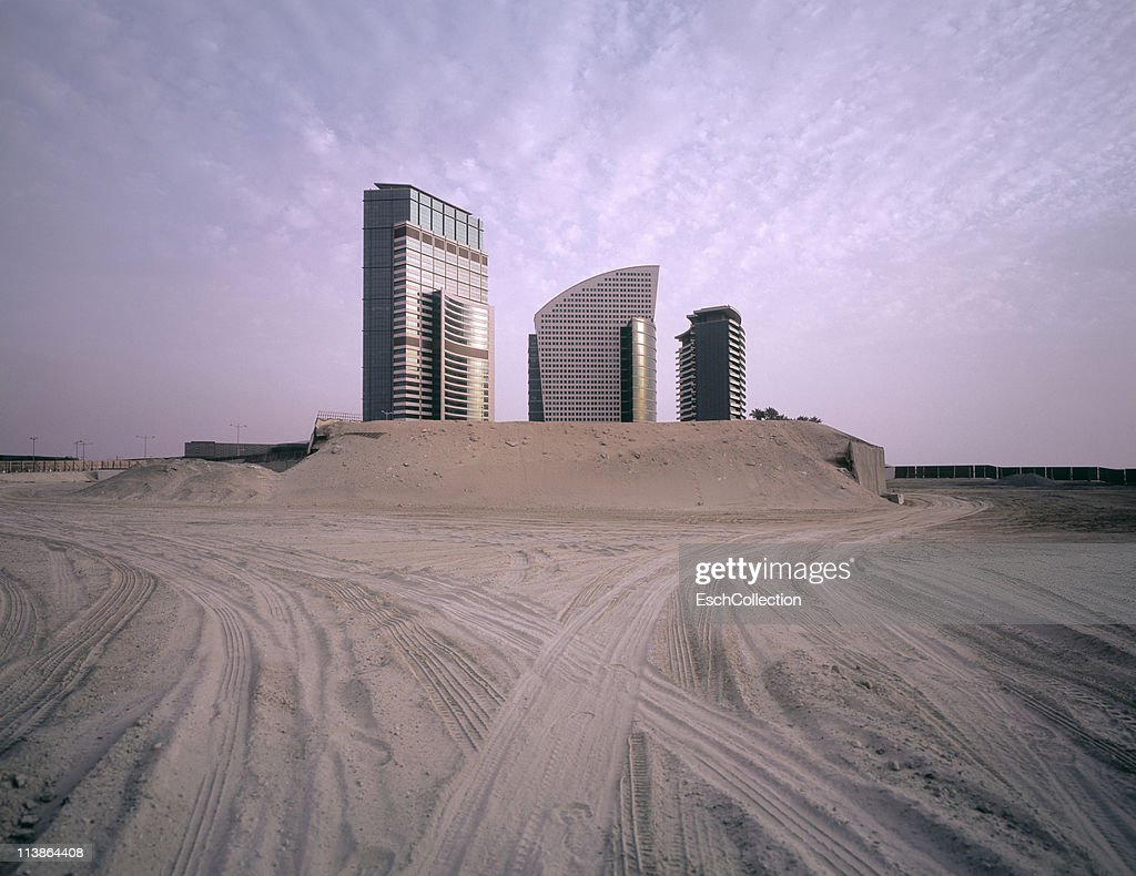 Newly built office buildings in Dubai, UAE. : Stock Photo