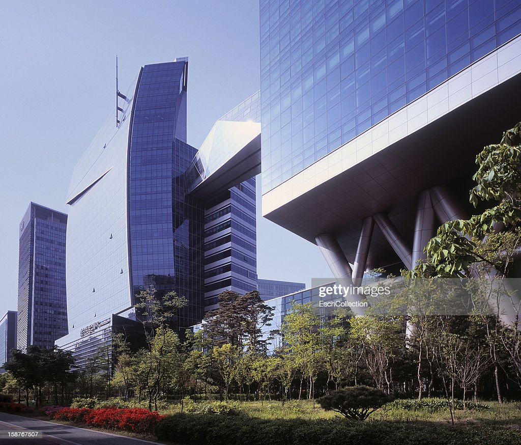 Newly built office buildings, Seoul, South Korea : Stock Photo