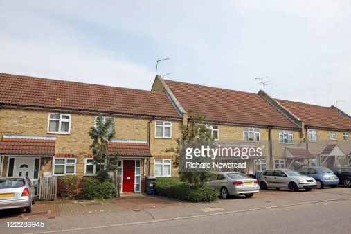 Newly built UK homes : Stock Photo