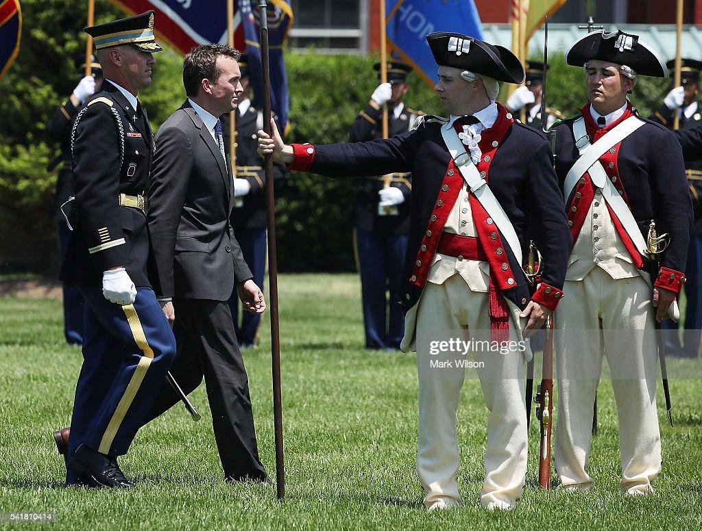 Full Honor Arrival Ceremony Held For New Army Secretary ...