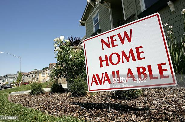 Newly constructed homes are seen at a housing development June 26 2006 in Novato California A report issued by the US Commerce Department stated that...