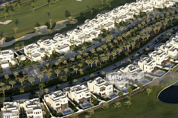 Newly constructed villas are seen from the air December 17 in Dubai United Arab Emirates