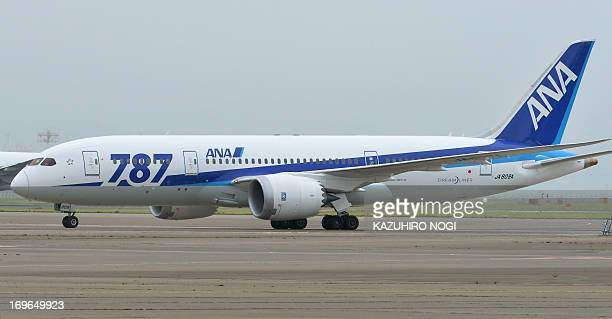 A newly delivered Boeing 787 Dreamliner is seen at Tokyo's Haneda airport in Tokyo on May 30 2013 Japan's All Nippon Airways the single biggest...