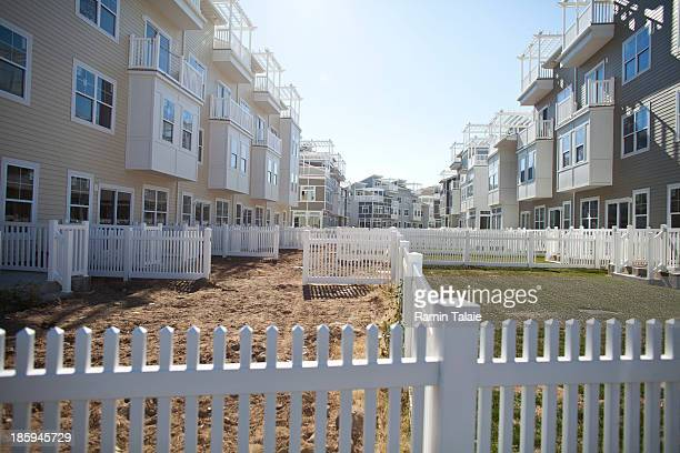 Newly developed beachfront properties under construction on October 26 2013 in the Queens borough of New York City Hurricane Sandy made landfall last...