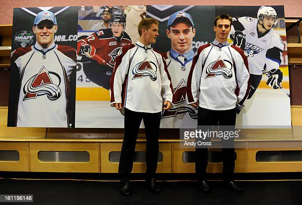 DENVER CO Newly drafted Avalanche players Gabriel Landeskog left and Duncan Siemens during a introductory press conference at Pepsi Center Tuesday...