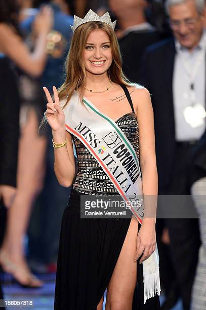 Newly elected 19yearold Giulia Arena is crowned with the title of Miss Italia 2013 during the final of the beauty pageant contest 2013 Miss Italia...