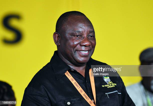 Newly elected Deputy President Cyril Ramaphosa on Day 3 of the ANC Conference which saw Jacob Zuma reelected as ANC President on December 18 in...