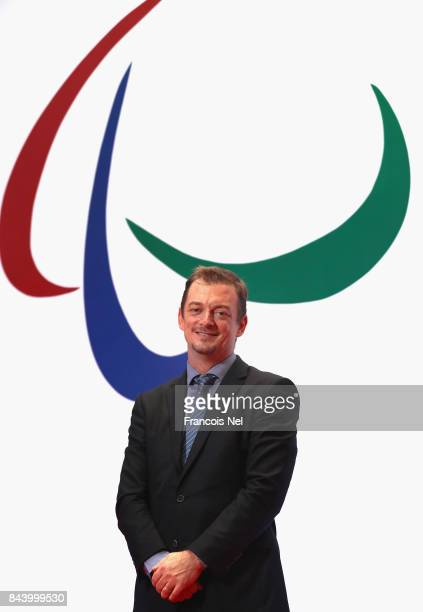 Newly elected International Paralympic Committee President Andrew Parsons poses for a portrait during the IPC General Assembly and Conference 2017 at...