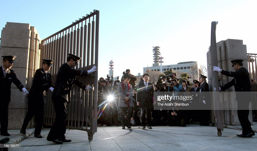 Newly elected lower house lawmakers enters to the diet building on December 26, 2012 in Tokyo, Japan. Liberal Democratic Party president Shinzo Abe becomes Japan's 96th prime minister, seventh in six years.