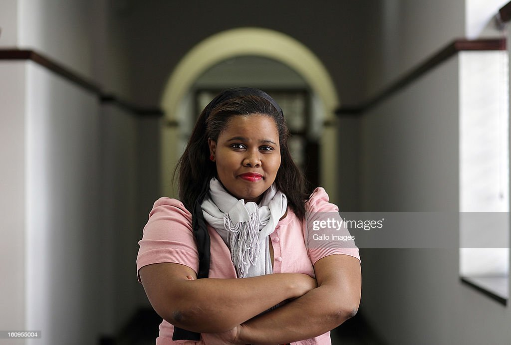 Newly elected parliamentary leader of the Democratic Alliance Lindiwe Mazibuko poses on October 28, 2011 in Cape Town, South Africa.