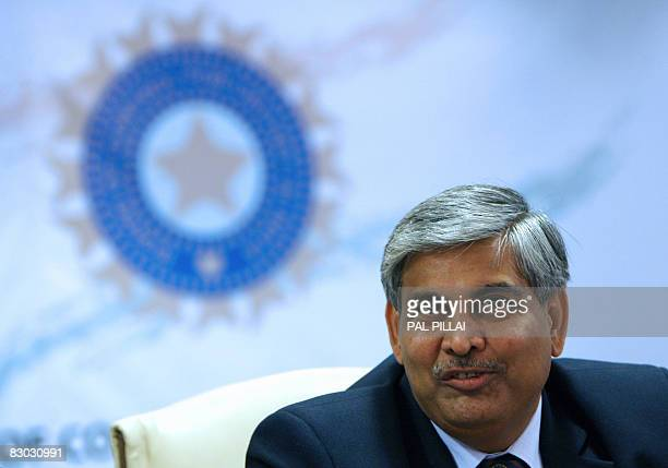 Newly elected President of The Board of Control for Cricket for India Shashank Manohar addresses a press conference in Mumbai on September 27 2008...