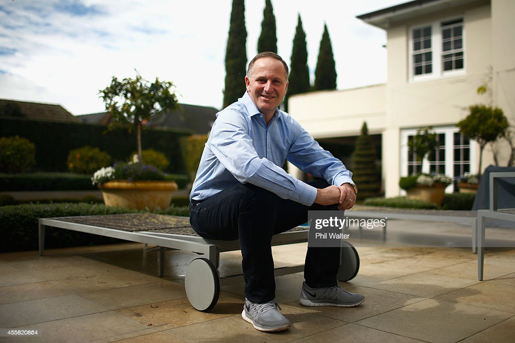 Newly elected Prime Minister <a gi-track='captionPersonalityLinkClicked' href=/galleries/search?phrase=John+Key&family=editorial&specificpeople=2246670 ng-click='$event.stopPropagation()'>John Key</a> poses for a portrait at his home on September 21, 2014 in Auckland, New Zealand. Last night, National Party leader <a gi-track='captionPersonalityLinkClicked' href=/galleries/search?phrase=John+Key&family=editorial&specificpeople=2246670 ng-click='$event.stopPropagation()'>John Key</a> was re-elected as the 39th Prime Minister of New Zealand after defeating Labour opposition leader David Cunliffe in the New Zealand general election.