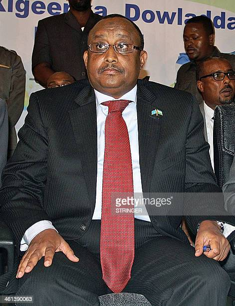 Newly elected Puntland President Abdiweli Mohamed Ali Gaas listens to the announcement of the election results in Garowe in Somalia's semiautonomous...