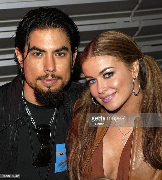 Newly Engaged Dave Navarro Carmen Electra during Celebrities at Radiohead Post Concert Party at Hollywood Bowl in Hollywood California United States