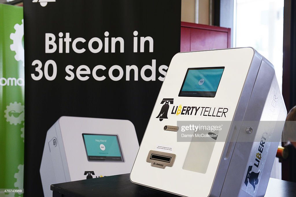 A newly installed Bitcoin ATM is seen at South Station February 20, 2014 in Boston, Massachusetts. The ATM was placed by Liberty Teller to help inform people about the digital currency, which can be bought and sold anonymously, and can be used at a number of online retailers in place of cash or credit cards.