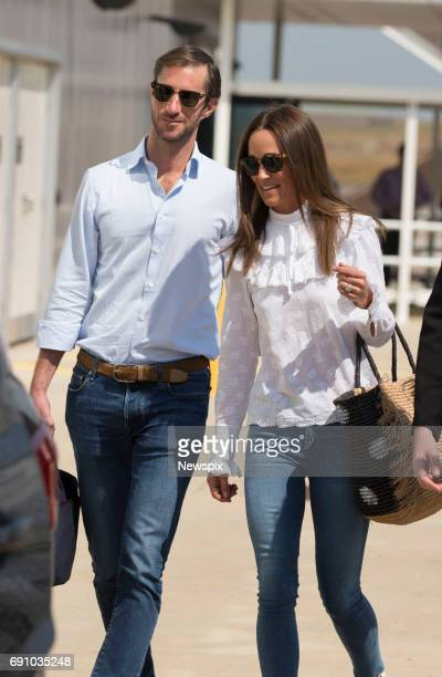 DARWIN NT Newly married James Matthews and Pippa Middleton arrive into Darwin International Airport in Darwin Northern Territory