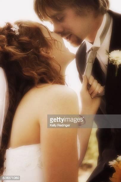 Newly married kiss