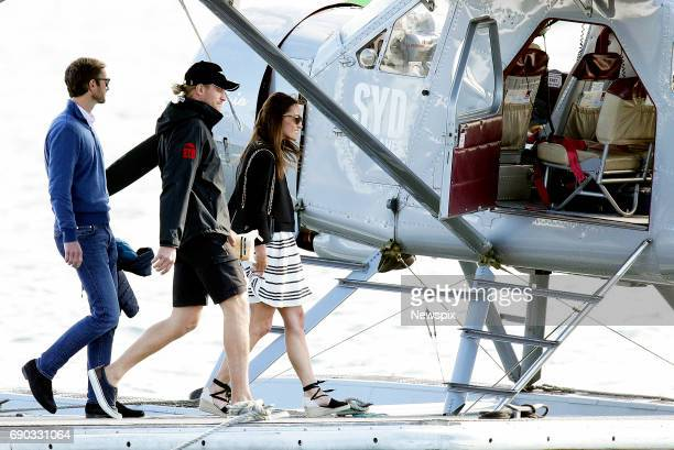 SYDNEY NSW Newly married Pippa Middleton and James Matthews arrive at Sydney Seaplanes terminal at Rose Bay in Sydney New South Wales