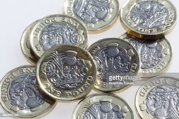 Newly minted UK one pound coins circulated in 2017.