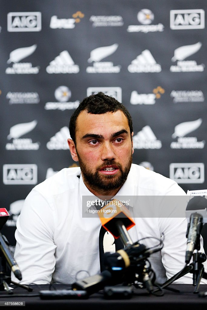 Newly named Maori All Blacks captain Charlie Ngatai speaks to the media during the New Zealand Maori All Blacks Squad Announcement at New Zealand...