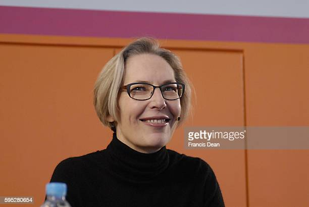 DENMARK / COPENHAGEN Newly pointed CEO and Manging Director of Danmark Radio Maria Roerbye Roenn 47 years old hold joint press conference with...