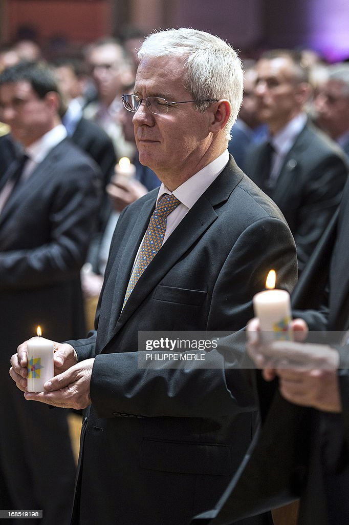 Newly president of the French council of reformed church, pastor Laurent Schlumberger, attend the first national synod of the United Protestant Church of France on May 11, 2013 at the Grand Temple in Lyon.