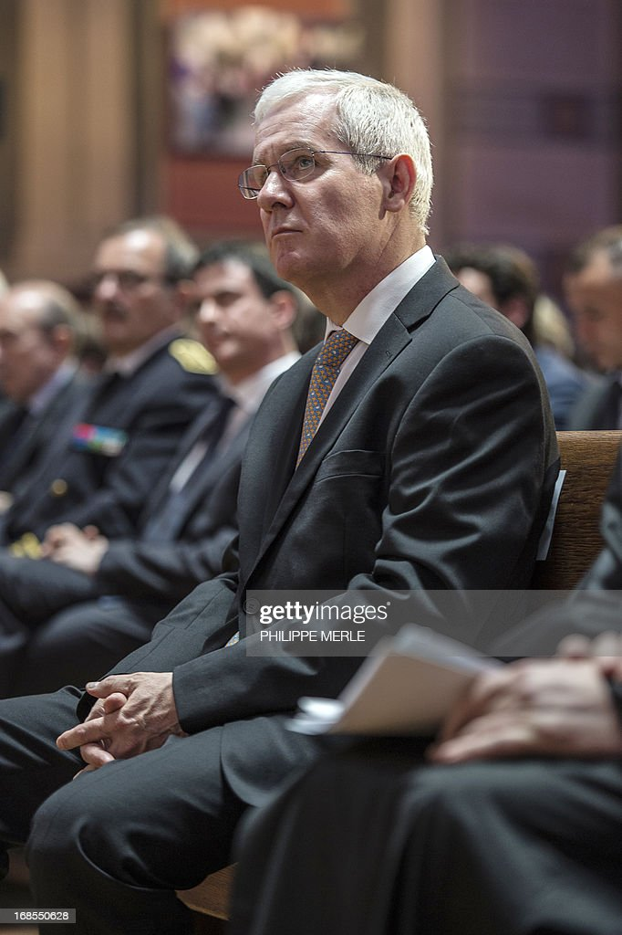 Newly president of the French council of reformed church, pastor Laurent Schlumberger, attends the first national synod of the United Protestant Church of France on May 11, 2013 at the Grand Temple in Lyon. AFP PHOTO / PHILIPPE MERLE