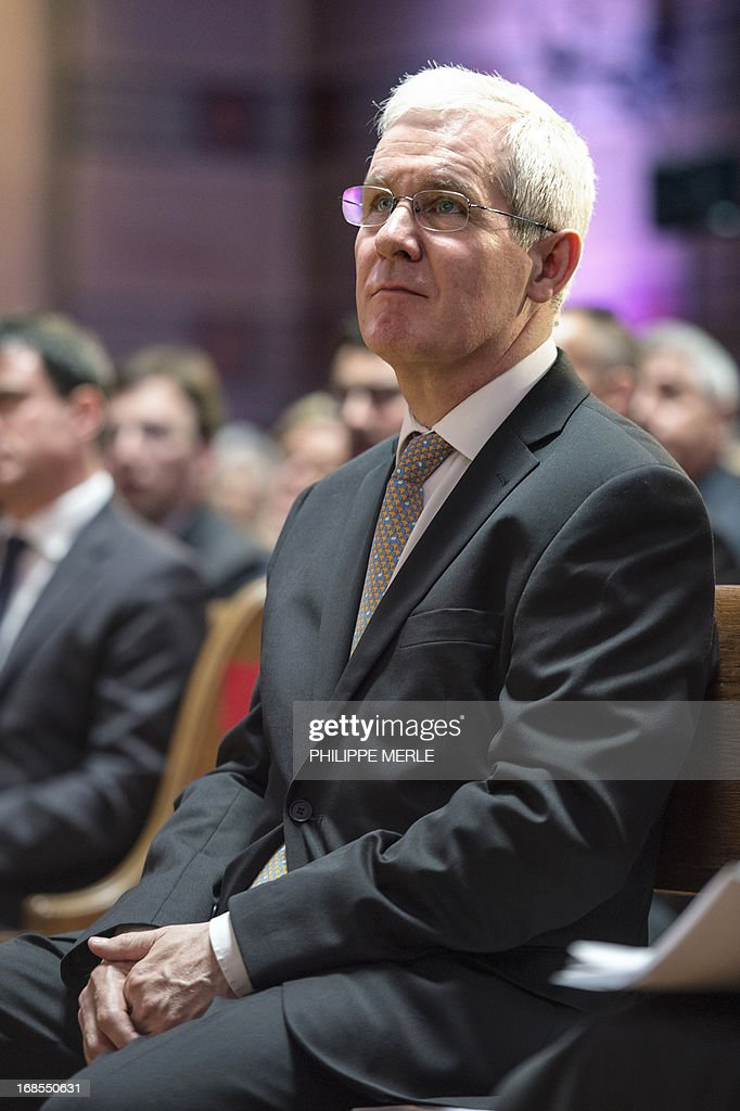 Newly president of the French council of reformed church, pastor Laurent Schlumberger, attends the first national synod of the United Protestant Church of France on May 11, 2013 at the Grand Temple in Lyon.