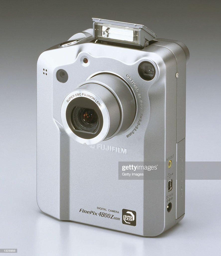 A newly released Fuji digital imaging camera FinePix 4800 Zoom from Fuji Photo Film U.S.A., Inc. is on display in an undated photo. The camera has a similar body design as the FinePix 6800 Zoom and a 2.4 million-sensor Super CCD, with High Definition Color technology that generates a 4.3-megapixel image file for more true-to-life colors.