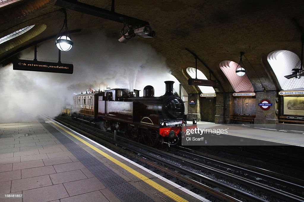 Newly Restored Met Loco No 1 Steam Train Travels Along London Underground