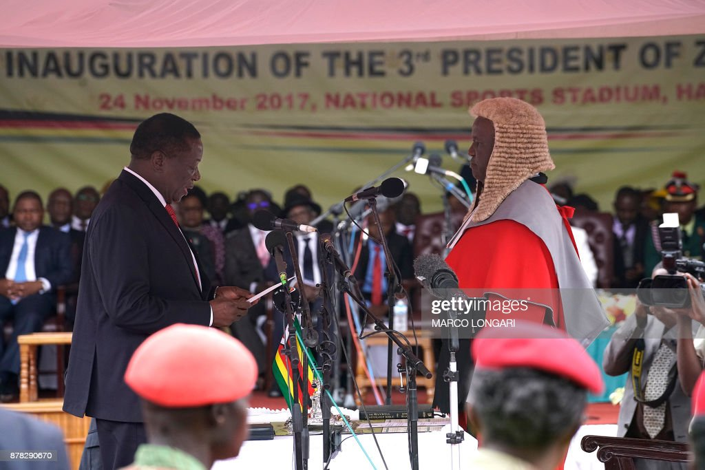 Emmerson Mnangagwa Sworn In As Zimbabwe's New President