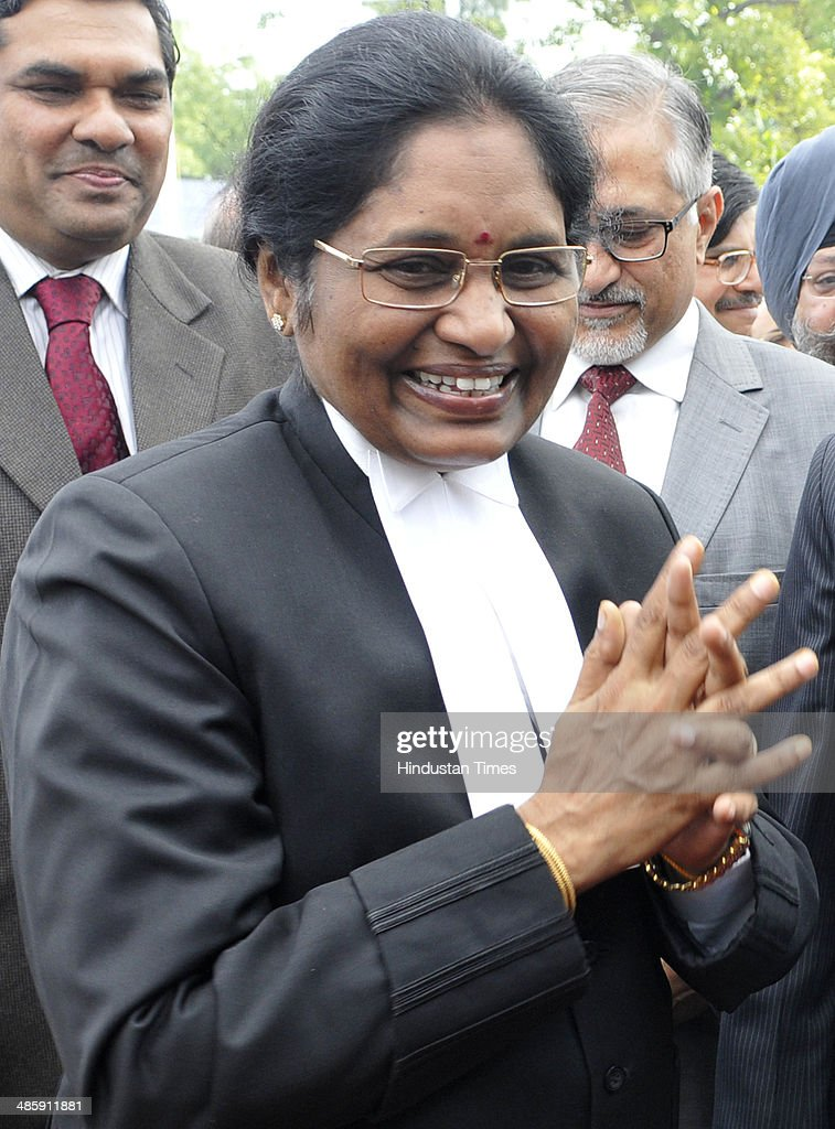 Newly sworn-in Chief Justice of the Delhi High Court Justice Gorla Rohini after taking oath at Raj Niwas, on April 21, 2014 in New Delhi, India. Justice Rohini, 58, who hails from Visakhapatnam succeeds Justice N V Ramana, who had vacated the position in February following his elevation to the Supreme Court.