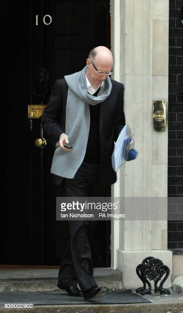 Newlyappointed Trade and Investment Minister Mervyn Davies leaves 10 Downing Street in London following a meeting of PM Gordon Brown's Business...