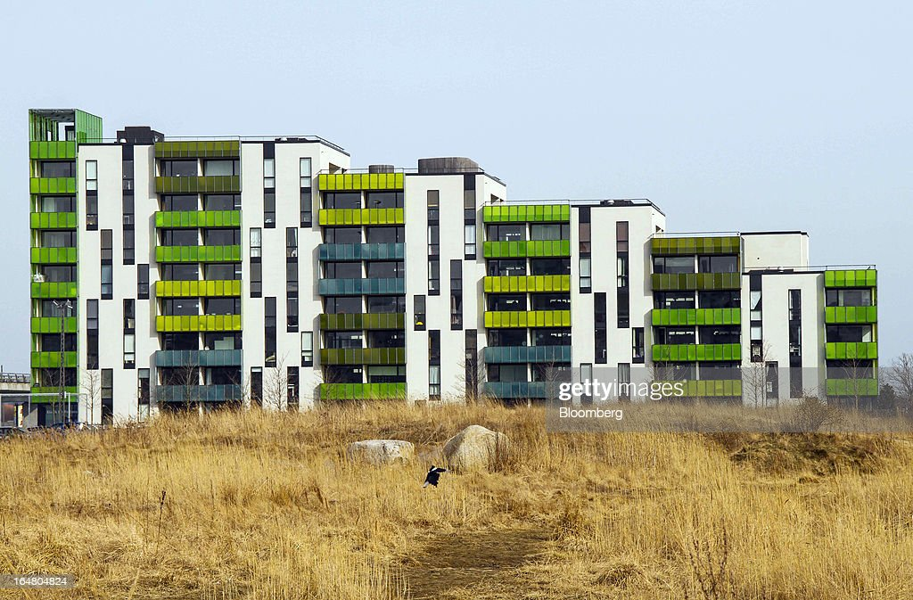 Newly-constructed residential apartments stand in Orestad on the outskirts of Copenhagen, Denmark, on Thursday, March 28, 2013. Denmark's government rejected a plan by mortgage banks last week to split troubled loans and extend interest-only terms for amounts below an 80 percent loan-to-value limit. Photographer: Freya Ingrid Morales/Bloomberg via Getty Images