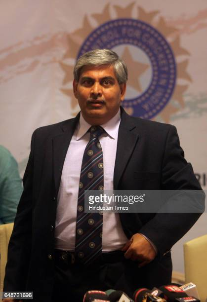 Newlyelected Board of Control for Cricket in India President Shashank Manohar speaks at a press conference at the BCCI headquarters in Mumbai