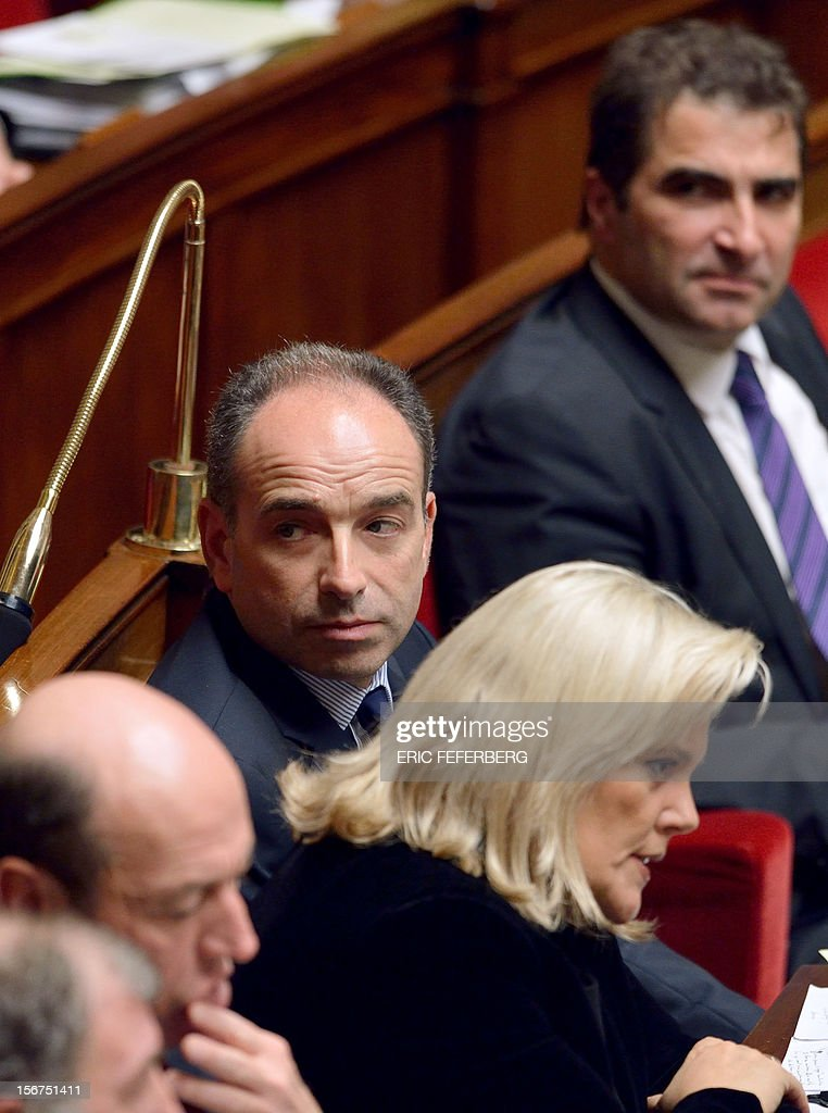 Newly-elected president of the right-wing UMP opposition party, Jean-Francois Cope takes part in the weekly session of questions at the National Assembly on November 20, 2012 in Paris.