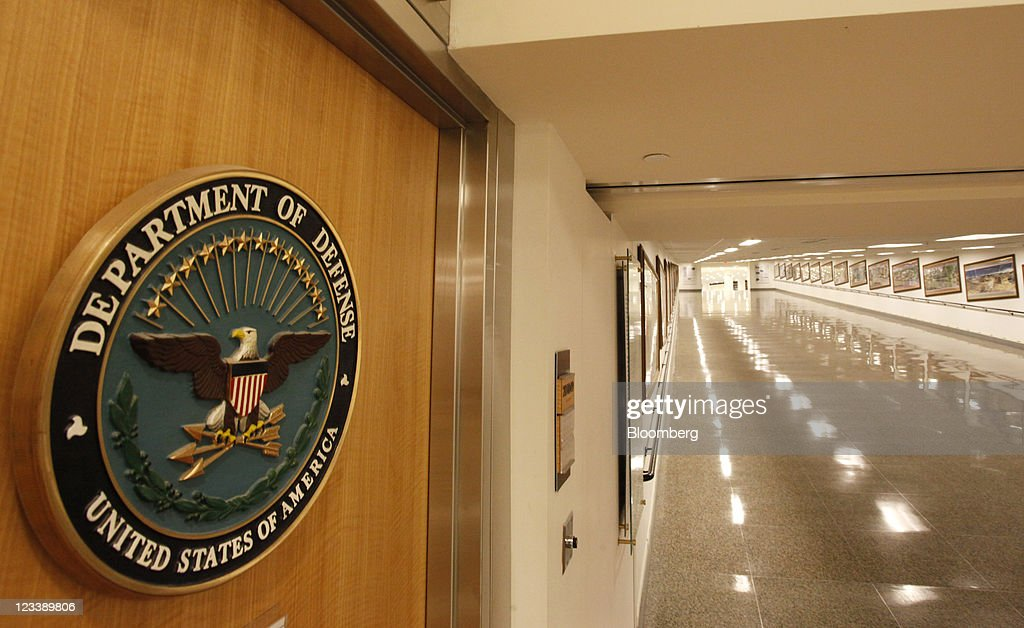 A newlyrenovated corridor leading to a ramp is seen at the Pentagon in Arlington Virginia US on Tuesday July 12 2011 Ramps were used instead of...