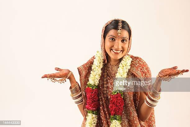 A Newlywed Indian bride , portrait
